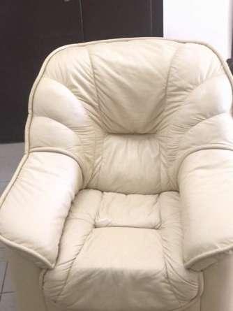 Кожаное кресло после химчистки