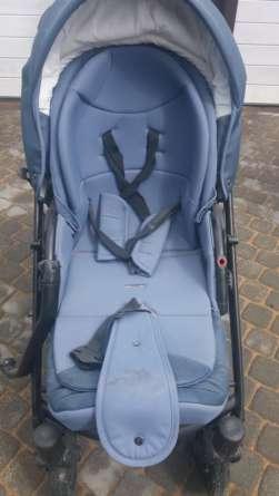 Синяя коляска до химчистки